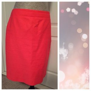 J. Crew Skirts - J.Crew No. 2 Pencil Skirt, Bright Coral